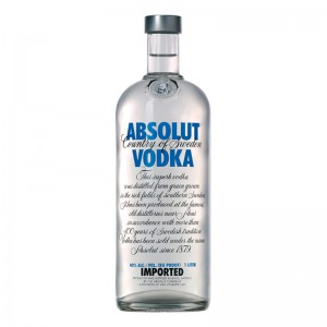 Водка Absolut Vodka, Blue Label  1 л фото цена