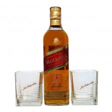 Виски Johnnie Walker Red Label п/у + 2 бокала 0,7