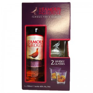 Виски The Famous Grouse (Феймоус Граус) + 2 бокала 0,7 л фото цена